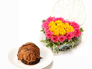 Rare Chocolate Mont Blanc & Heart Roses(mix)