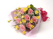 Yellow Aquamarine Rose(Bouquet)