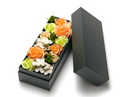 Soap Flower/Rose box minion Orange