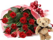 Select Roses and Teddybear