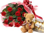 Select Roses & Teddy & Chocolate